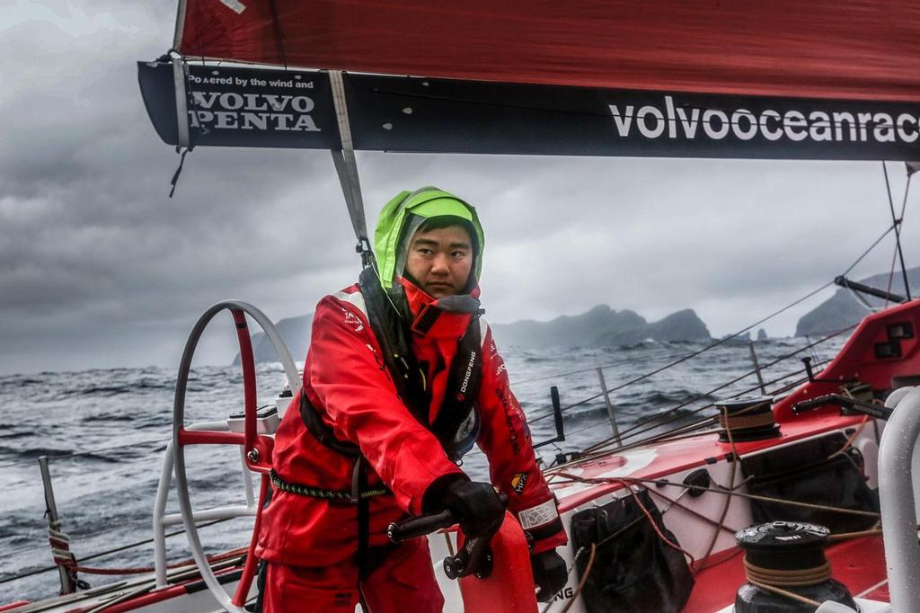 August 14, 2014. Round Britain Island Race Day 4 - OBR content Dongfeng Race  © Yann Riou / Dongfeng Race Team