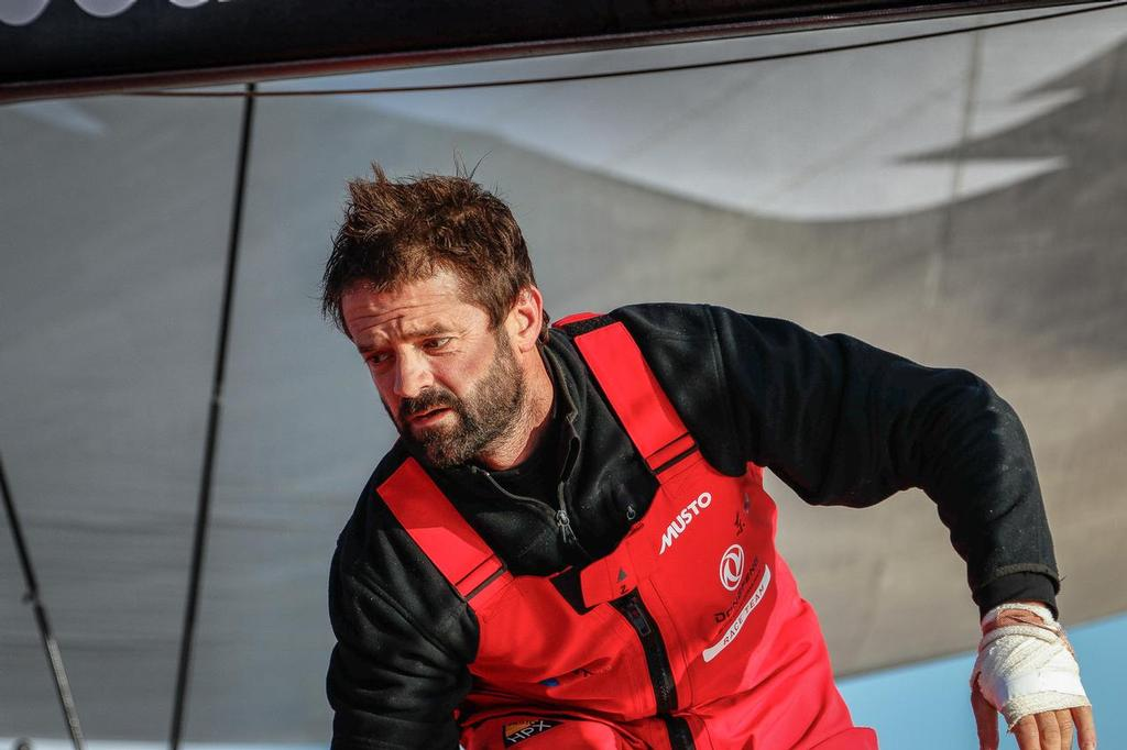 August 14, 2014. Round Britain Island Race Day 4 - OBR content Dongfeng Race Team © Yann Riou / Dongfeng Race Team