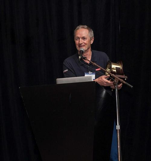 United States Sailboat Show - Alistair Murray with the Sailing Industry Distinguished Service Award. © Heather Ford