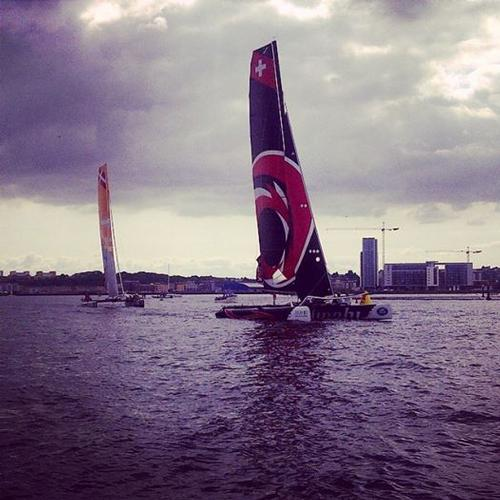 Alinghi - Extreme Sailing Series, Cardiff - Day 1 © Anna Tunnicliffe http://www.annatunnicliffe.com