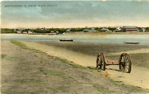 The way we were . . .  all sand and no Broadwater. © SW