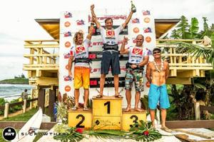 Masters podium. AWT Severne Starboard Aloha Classic 2014. photo copyright Si Crowther / AWT http://americanwindsurfingtour.com/ taken at  and featuring the  class