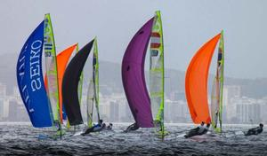 2014 Aquece Rio -  49er fleet action photo copyright ISAF  taken at  and featuring the  class
