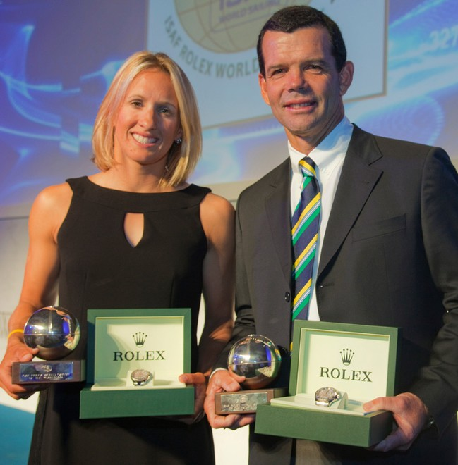 Anna Tunnicliffe and Torben Grael, 2009 Rolex ISAF Sailors of the Year ©  Rolex/Daniel Forster http://www.regattanews.com