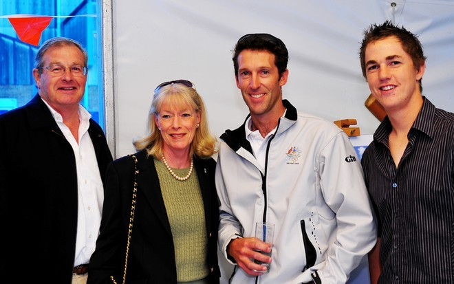 Kendi and David Kellett, Malcolm Page and Noakes Youth sailor James Burman - Compasscard launch © Nelson Cortez