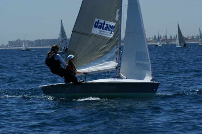 German girls chase the leaders, Race 9 2007 SAP 505 World Championships, Adelaide © Sail-World.com /AUS http://www.sail-world.com