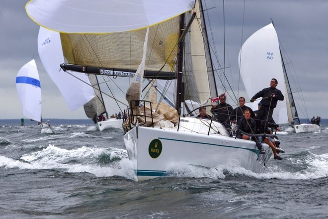 Gary Beer's Farr 40 Sundance is in third overall in the Farr 40 Class - Block Island Race Week ©  Rolex / Dan Nerney