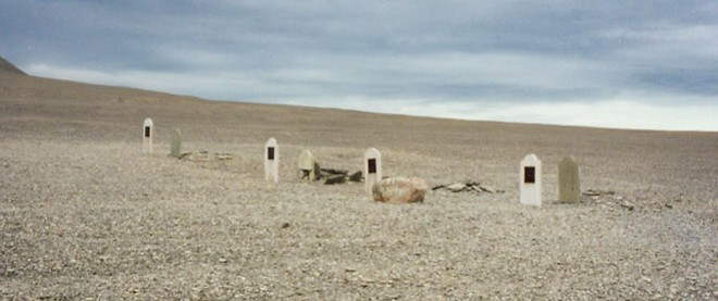 Graves of those who died at the camp © SW