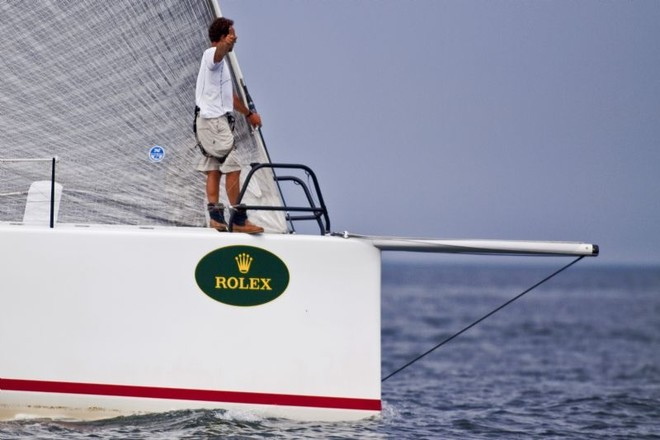 On the bow of Rosebud Team/DYT - Block Island Race Week ©  Rolex / Dan Nerney