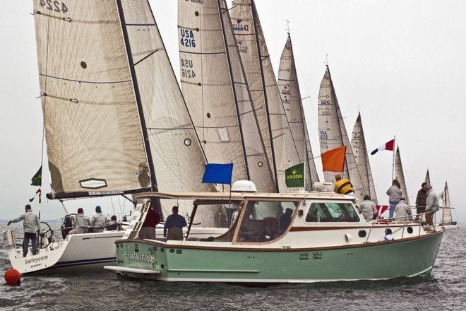 The Swan 42 class at the starting line on day three - Block Island Race Week ©  Rolex / Dan Nerney