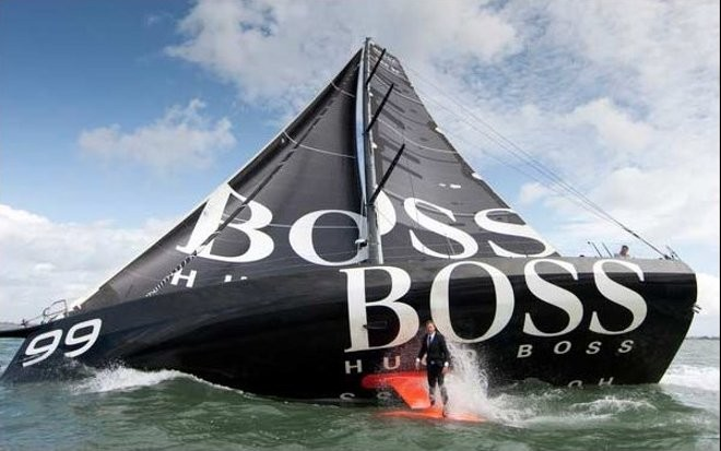 Hugo Boss - shows off her canting keel during a photo shoot © Alex Thomson http://www.alexthomsonracing.com