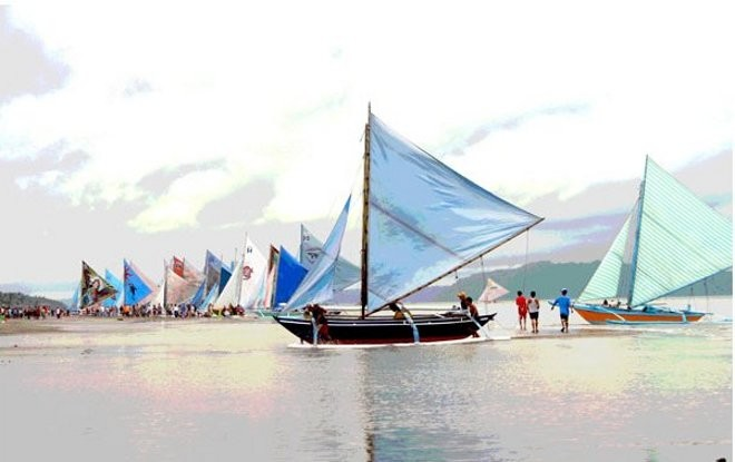 The famous Iloilo Paraw Regatta