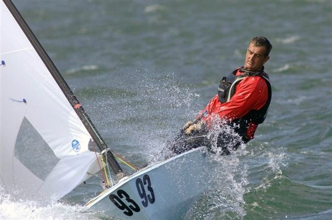 Karl Purdie, winning the 2010 OK Dinghy Nationals Champion, Wellington, New Zealand © Chris Coad Photography http://www.chriscoad.co.nz/