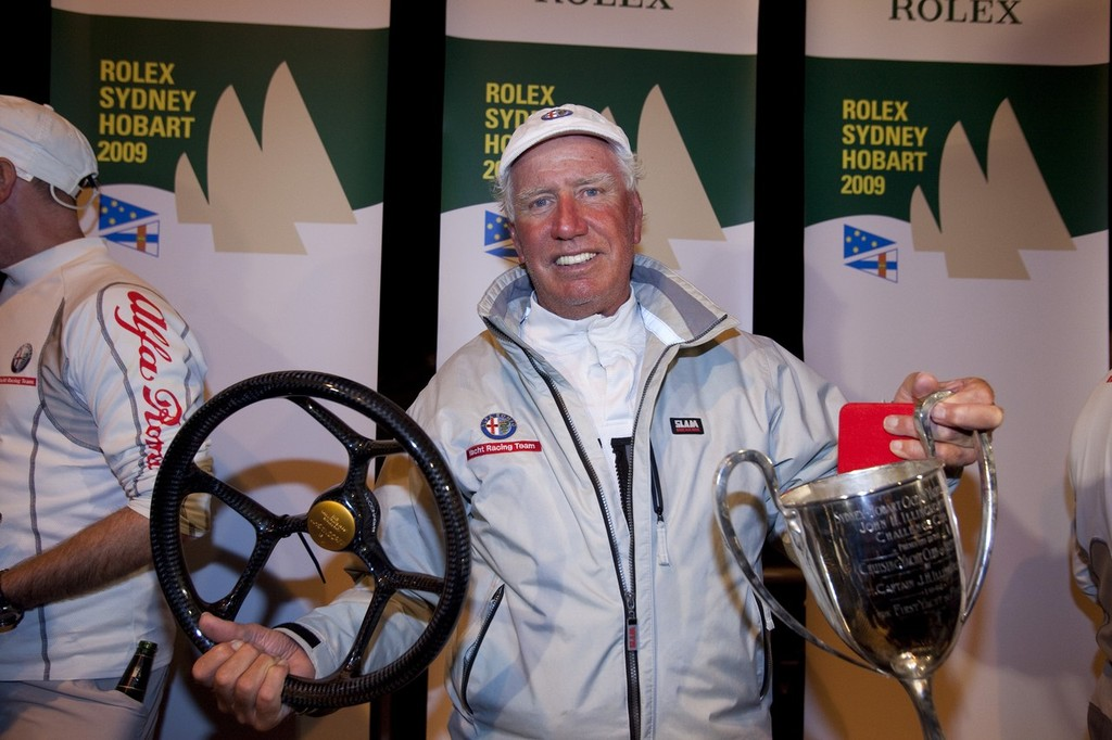Neville Crichton happy with the most important prizes in yachting - 2009 Rolex Sydney Hobart © Rolex Sydney Hobart