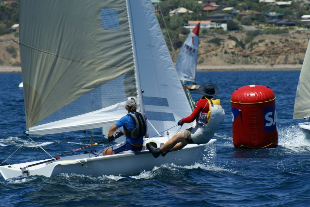 Terry Scutcher and Christian Diebitsch (GBR), Race 9, 2007 SAP 505 World Championships © Sail-World.com /AUS http://www.sail-world.com