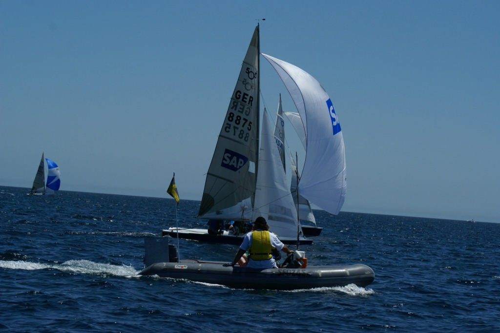 Fight for first place on final run, Race 9, 2007 SAP 505 World Championships © Sail-World.com /AUS http://www.sail-world.com