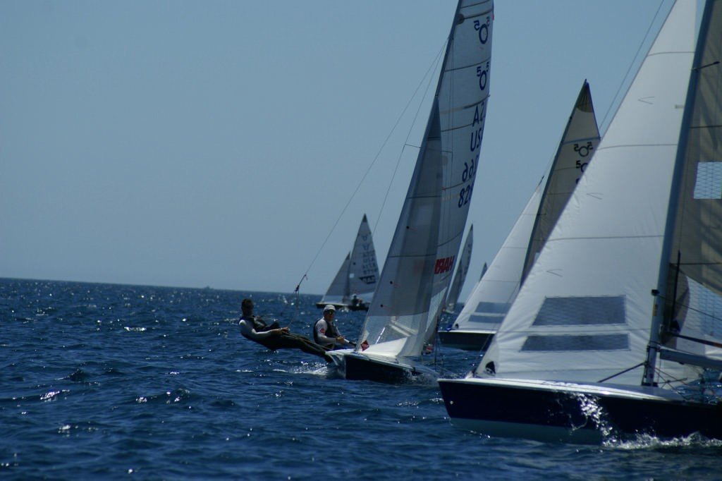 The leaders cross tacks on the final beat, Race 9, 2007 SAP 505 World Championships © Sail-World.com /AUS http://www.sail-world.com