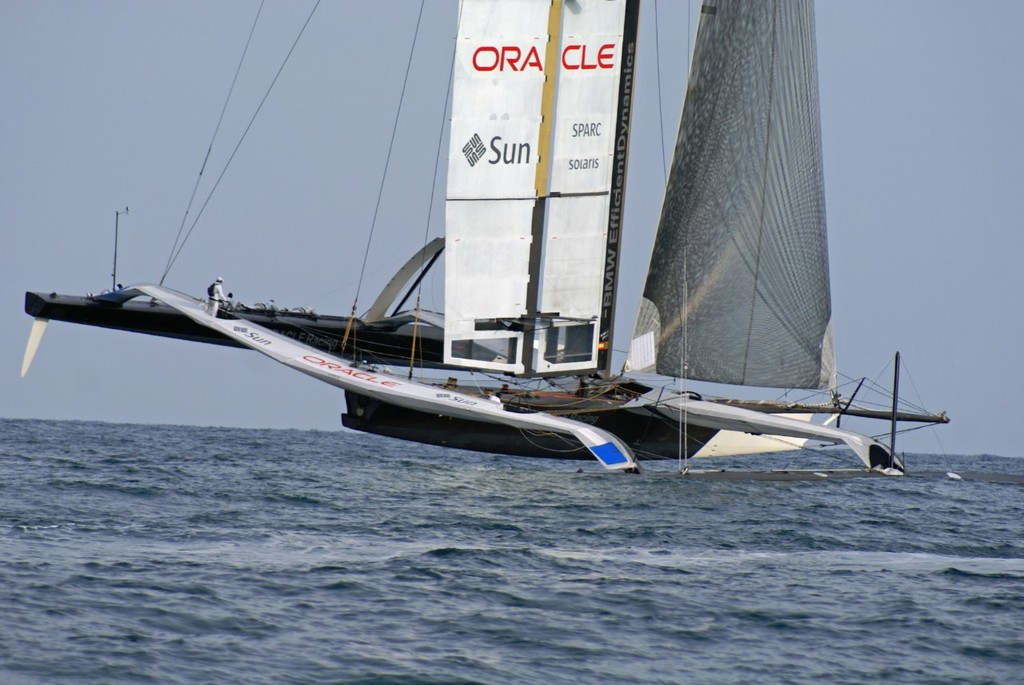 USA-17, early stages of leg 1, Final race, 33rd America's Cup © Richard Gladwell www.photosport.co.nz