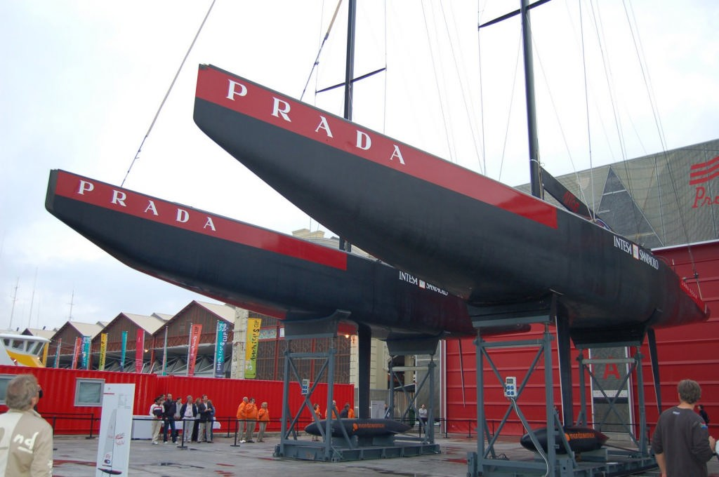 Luna Rossa's ITA-86 and ITA-94, AC Unveiling 2007 show off the Ice-Breaker bow. photo copyright Valenciasailing.com http://www.valenciasailing.com taken at  and featuring the  class