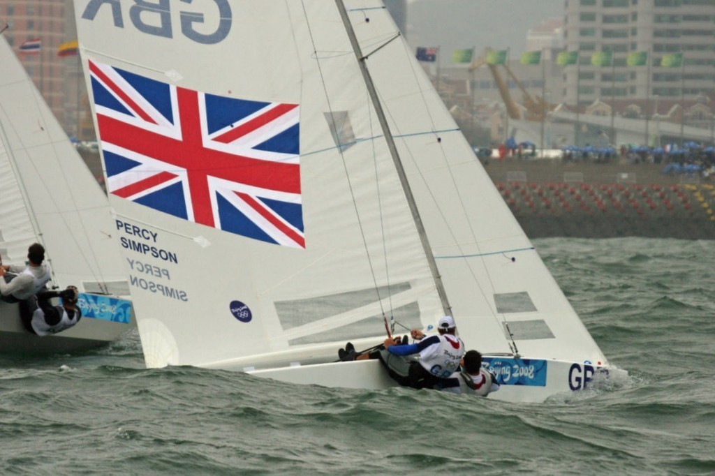 Simpson and Percy win the Gold Medal 2008 Olympics - Star class © Richard Gladwell www.photosport.co.nz