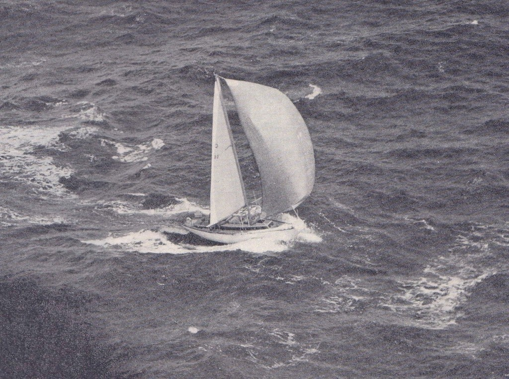 Rainbow II pictured mid-ocean, being driven hard and with a bone in her teeth, in the 1967 Whangarei - Noumea Race photo copyright George Layton taken at  and featuring the  class