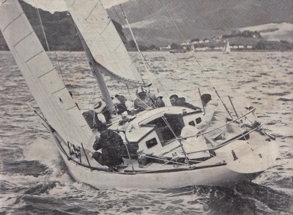 Rainbow II heading out of Whangarei at the start of the 1967 Whangarei to Noumea Race photo copyright George Layton taken at  and featuring the  class