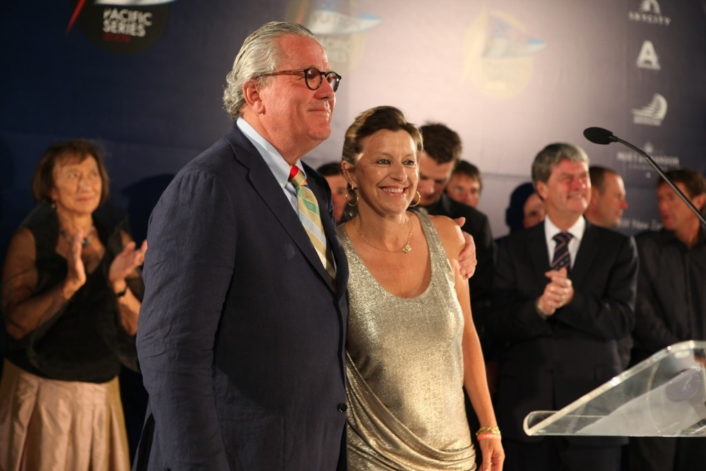 Louis Vuitton's Christine Belanger with Bruno Trouble on the evening of the Louis Vuitton Pacific Series party - photo © Louis VuittonPacific Series www.louisvuitton-pacificseries.com