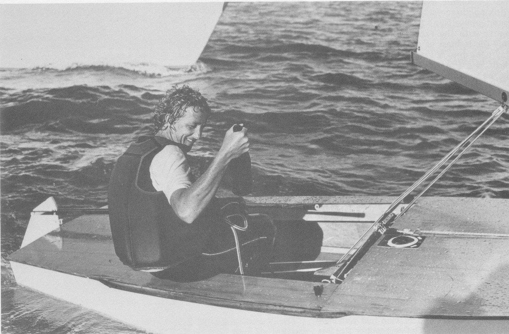 Peter Lester (NZL) celebrates his World Championship win in 1977, Takapuna - photo © NZ Yachting