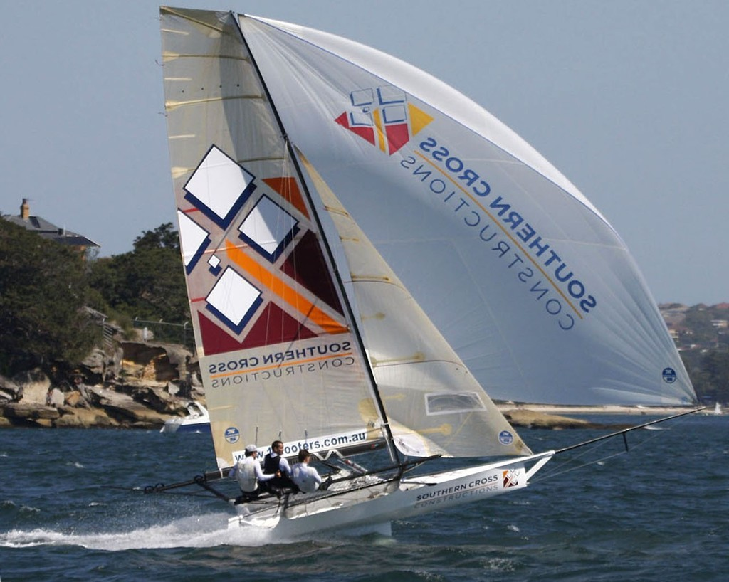 Southern Cross Constructions racing in the  2009 JJ Gilltinan Shield 18 footer Worlds  © Allan Barron