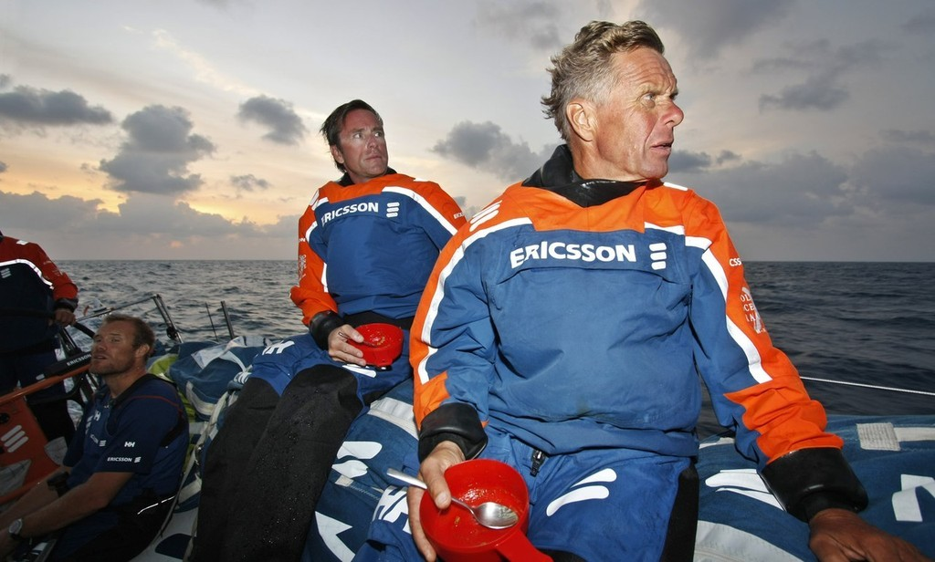 Skipper Magnus Olsson onboard Ericsson 3, on leg 4 of the Volvo Ocean Race from Singapore to Qingdao, China  © Gustav Morin/Ericsson Racing Team/Volvo Ocean Race http://www.volvooceanrace.org