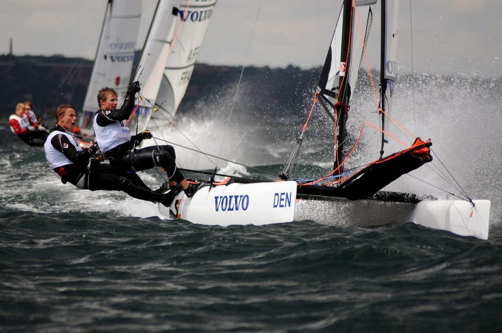 Multihull action from the 2008 ISAF Volvo Youth Worlds  © onEdition http://www.onEdition.com