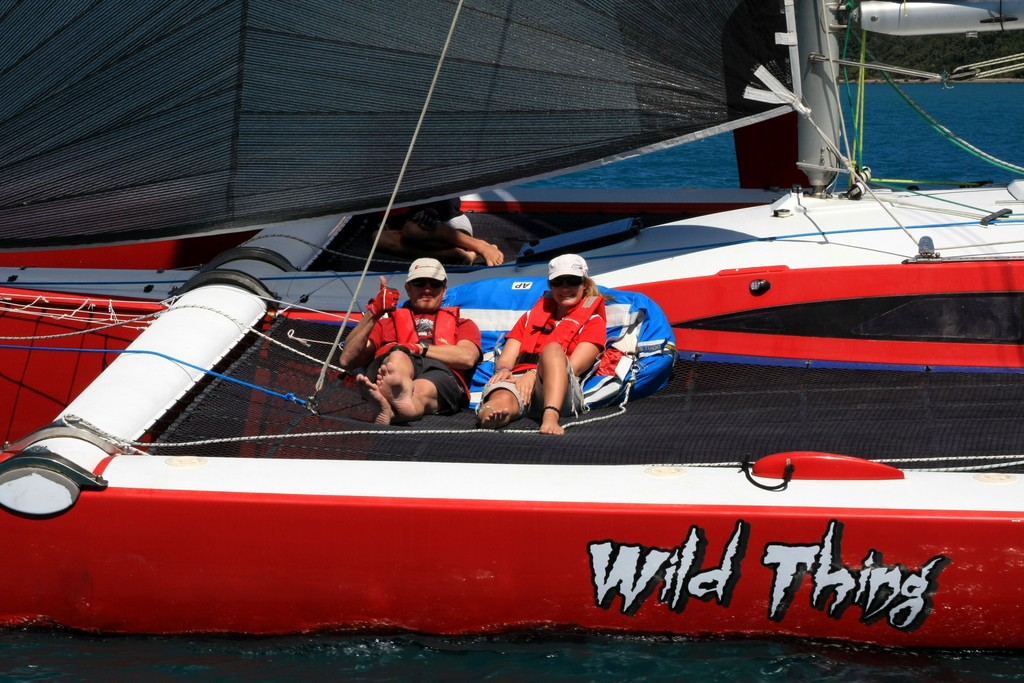Wild Thing Relaxation © Airlie Beach Race Week media 2012