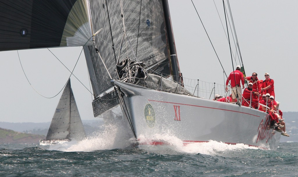 Wild Oats under kite - Rolex Trophy Rating Series © Crosbie Lorimer http://www.crosbielorimer.com