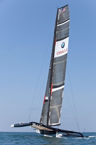 BMW ORACLE Racing - 90 ft Trimaran testing off San Diego just under 12 months after being launched © BMW Oracle Racing Photo Gilles Martin-Raget http://www.bmworacleracing.com