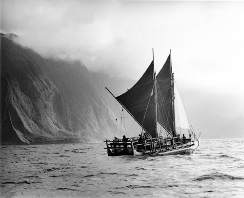 Hokule'a - a tradition restored.  Photo by Monte Costa © SW