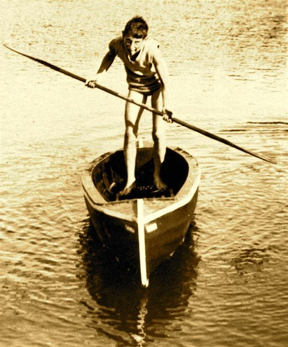 Hugh Poole aged 12 starting out in the sailing canoes © SW