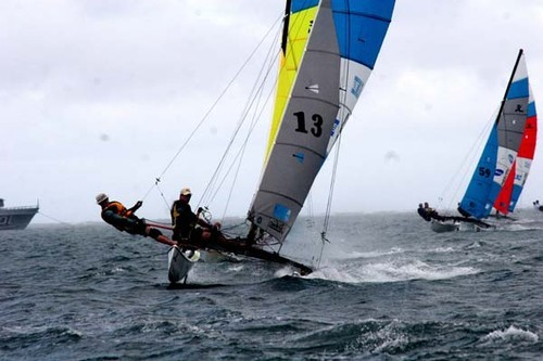 Racing in the Qualifyimg round of the 2007 Hobie 16 Worlds. Fiji © Real Balance