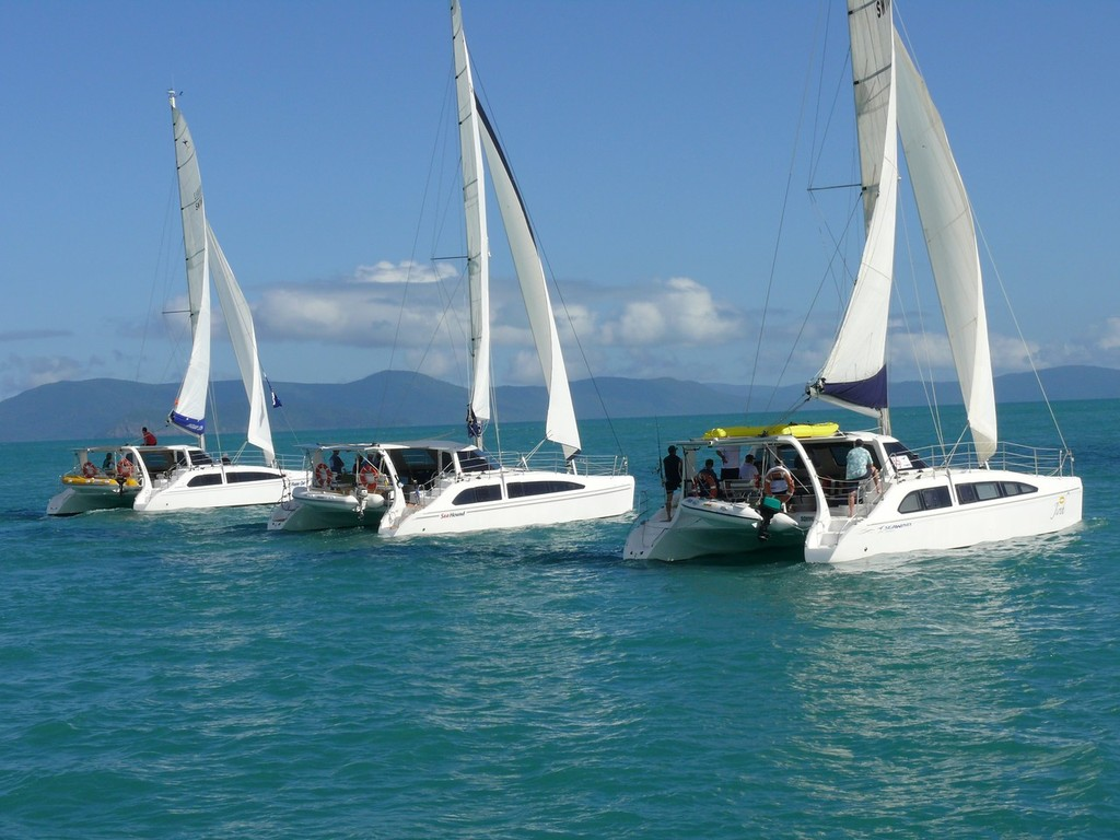 Seawinds underway in light conditions last year - Seawind Whitsunday Rally © Brent Vaughan