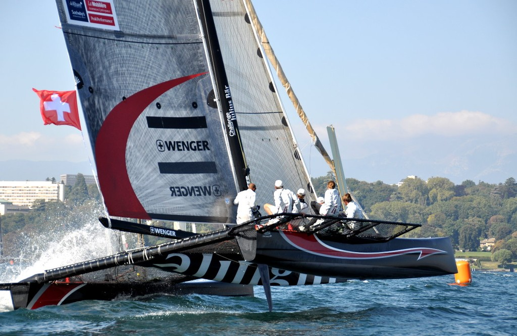 Multihulls are not favoured by the majority of the survey responses, and readers are split 50/50 over wingsails vs softsails in Multihulls if they are used in the America's Cup © Jean Philippe Jobé