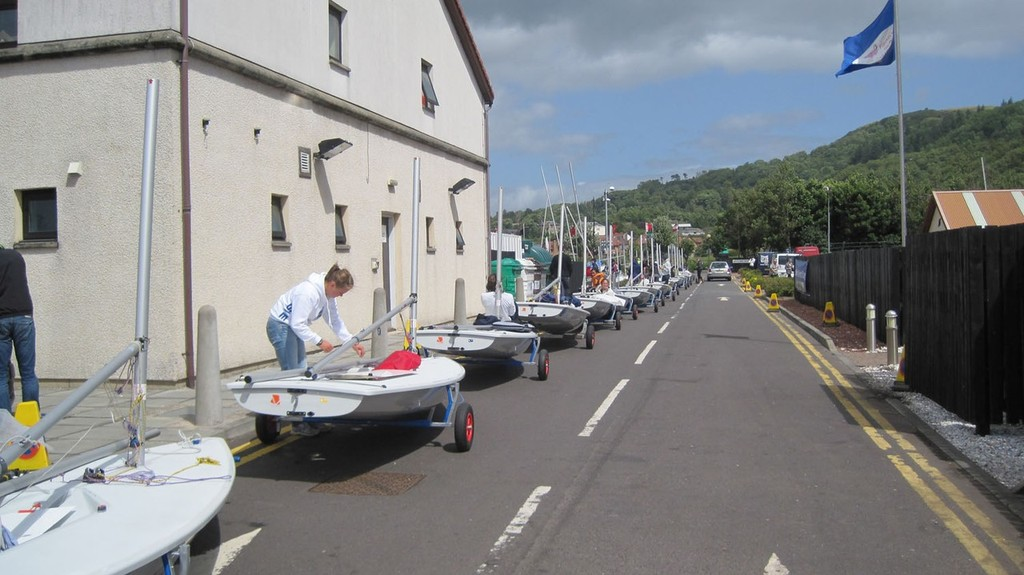 Measuring - 2010 Laser Radial World Championships, Largs, Scotland - photo © Sara Winther