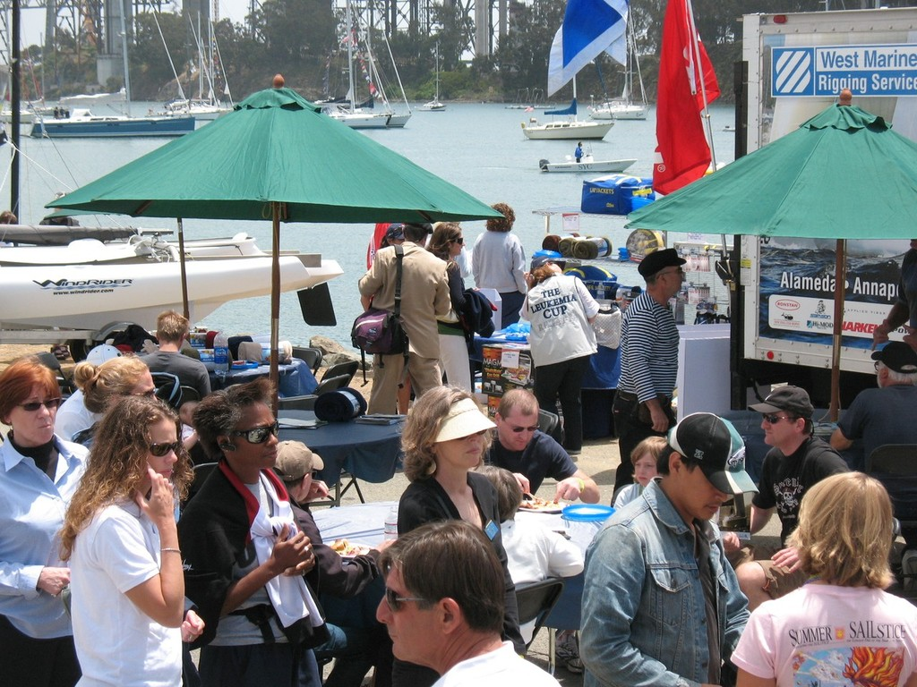 Thousands gathered on Treasure Island in San Francisco for Summer Sailstice 2009 - Summer Sailstice © John Arndt