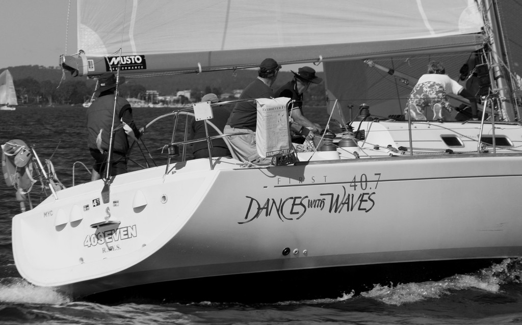 Dances with Waves. Commodore&rsquo;s Cup day 3 Sail Port Stephens 2011  <br />  &copy; Sail Port Stephens Event Media