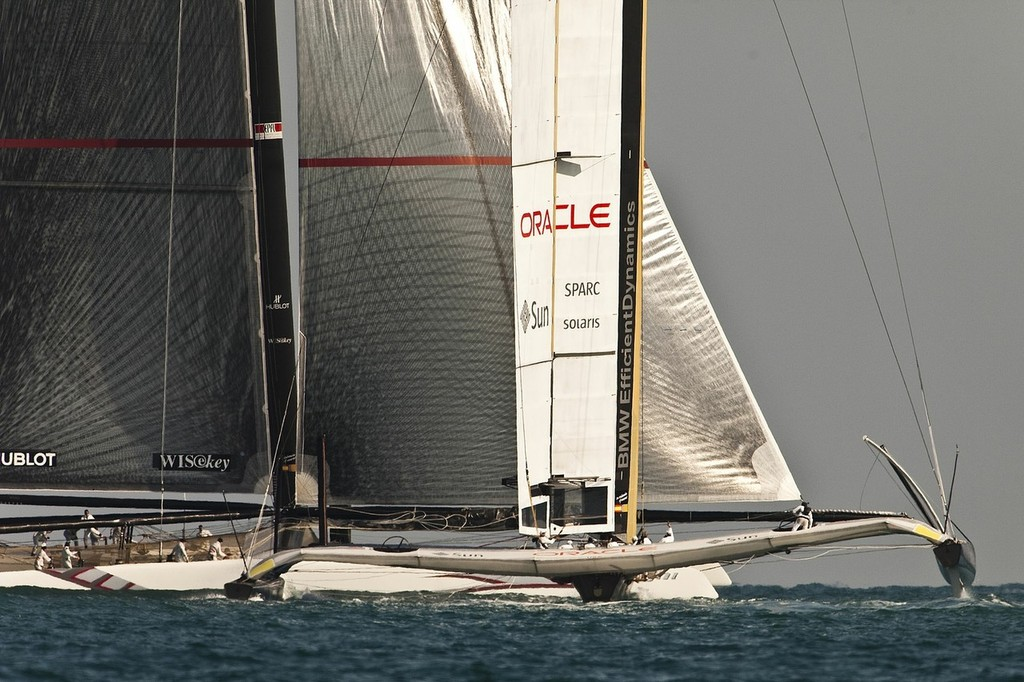 85% of the responses have come from racing sailors, most of who have match raced in boats under 10Metres, but would rather see the America's Cup sailed in boats over 15 metres © BMW Oracle Racing: Guilain Grenier - copyright http://www.oracleracing.com