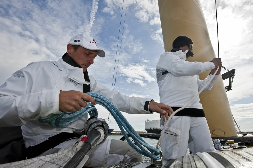 33rd America's Cup - BMW ORACLE Racing - Day off 1 - Getting the yacht ready - Brad Webb © BMW Oracle Racing Photo Gilles Martin-Raget http://www.bmworacleracing.com