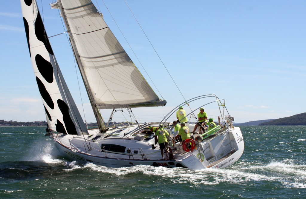 Holy Cow. Commodore&rsquo;s Cup day 3 Sail Port Stephens 2011  <br />  &copy; Sail Port Stephens Event Media