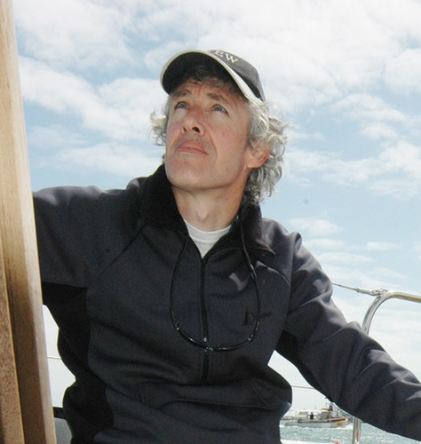Jamie Dunross on board his yacht Spirit of Rockingham - circumnavigated Australia solo in 2010 © SW
