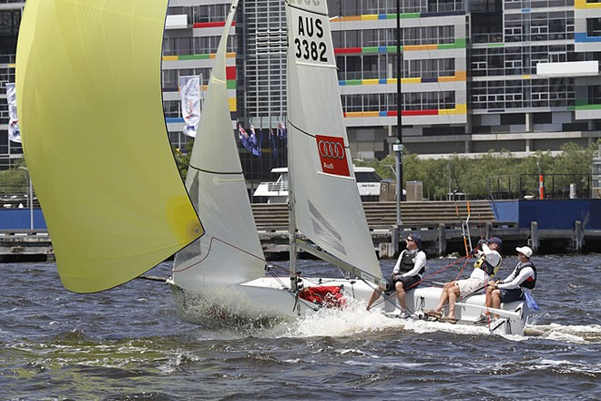Nathan Outteridge - Audi King of the Docklands 2011 - Audi Victoria Week 2011 © Teri Dodds http://www.teridodds.com
