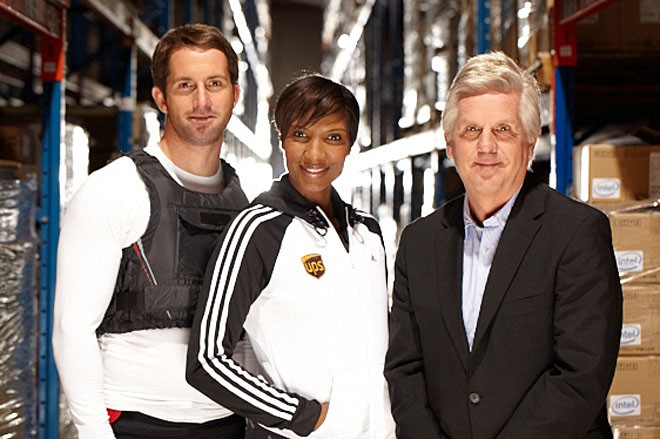 Ben Ainslie with Denise Lewis and Steve Rider © Jim Marks www.marks.co.uk