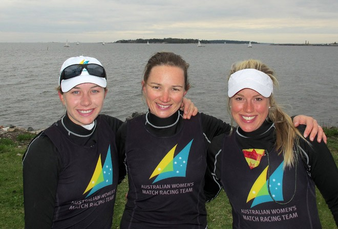 Lucinda Whitty, Katie Spithill and Jessica Eastwell in Helsinki © Will Ryan
