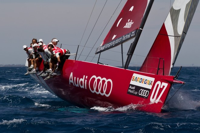McConaghy built the Audi sailing team powered by All4One TP52 in 62 days, under 9 weeks - the fastest build in the class history © McConaghy Boats